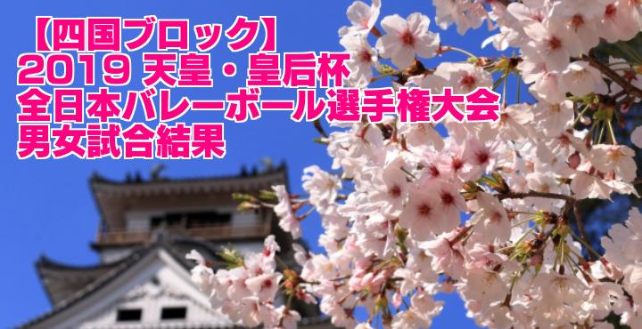 【四国ブロック】2019 天皇・皇后杯全日本バレーボール選手権大会 男女試合結果