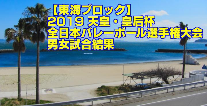 【東海ブロック】2019 天皇・皇后杯全日本バレーボール選手権大会 男女試合結果