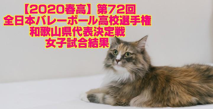 【2020春高】第72回全日本バレーボール高校選手権 和歌山県代表決定戦 女子試合結果