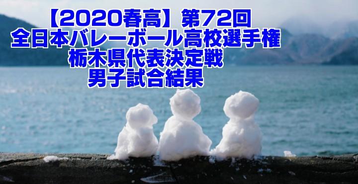 【2020春高】第72回全日本バレーボール高校選手権 栃木県代表決定戦 男子試合結果