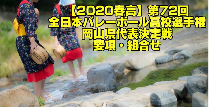 【2020春高】第72回全日本バレーボール高校選手権 岡山県代表決定戦 要項・組合せ
