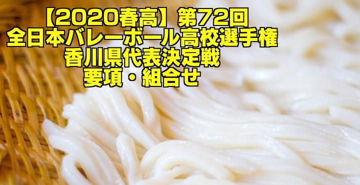 【2020春高】第72回全日本バレーボール高校選手権 香川県代表決定戦 要項・組合せ