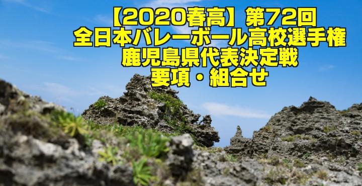 【2020春高】第72回全日本バレーボール高校選手権 鹿児島県代表決定戦 要項・組合せ