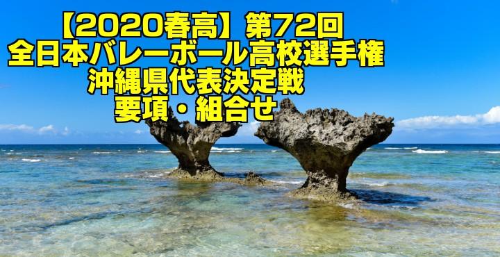 【2020春高】第72回全日本バレーボール高校選手権 沖縄県代表決定戦 要項・組合せ