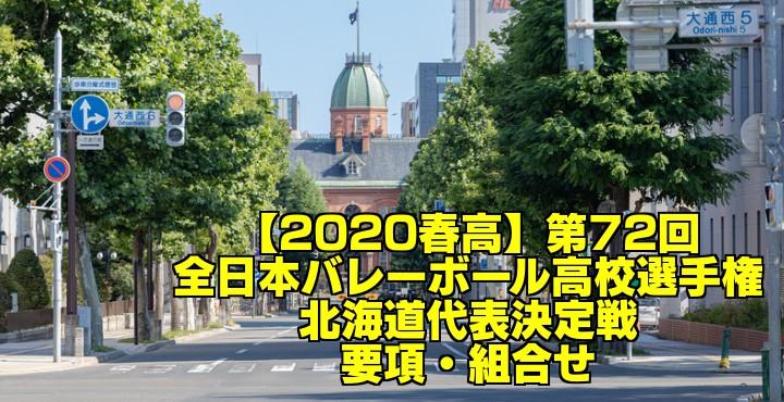 【2020春高】第72回全日本バレーボール高校選手権 北海道代表決定戦 要項・組合せ