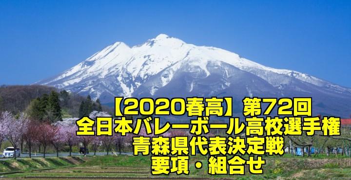 【2020春高】第72回全日本バレーボール高校選手権 青森県代表決定戦 要項・組合せ