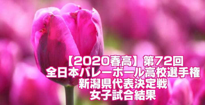 【2020春高】第72回全日本バレーボール高校選手権 新潟県代表決定戦 女子試合結果