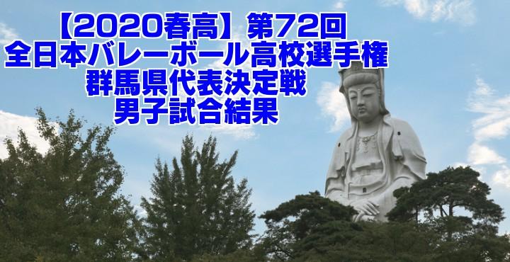 【2020春高】第72回全日本バレーボール高校選手権 群馬県代表決定戦 男子試合結果