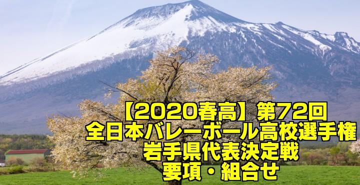 【2020春高】第72回全日本バレーボール高校選手権 岩手県代表決定戦 要項・組合せ
