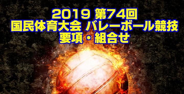 2019 第74回国民体育大会 バレーボール競技 要項・組合せ