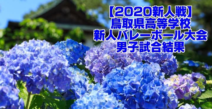 【2020新人戦】鳥取県高等学校新人バレーボール大会 男子試合結果