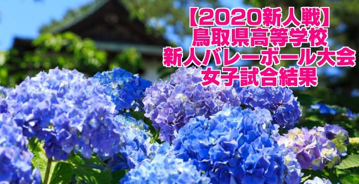 【2020新人戦】鳥取県高等学校新人バレーボール大会 女子試合結果