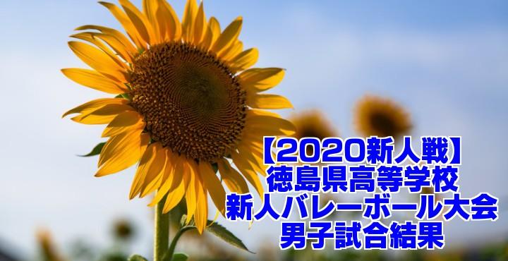 【2020新人戦】徳島県高等学校新人バレーボール大会 男子試合結果