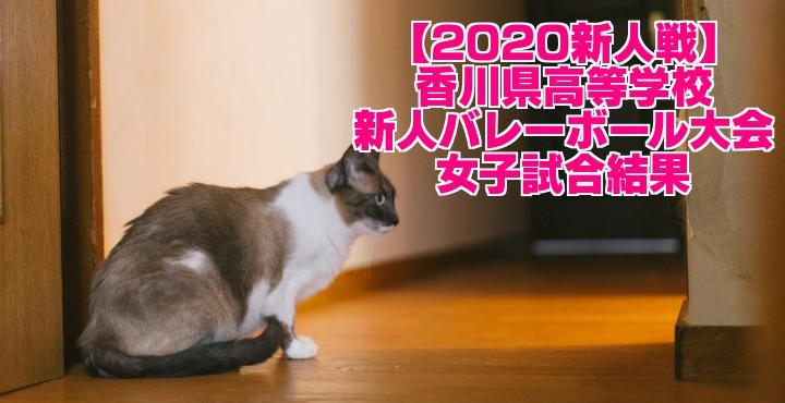 【2020新人戦】香川県高等学校新人バレーボール大会 女子試合結果