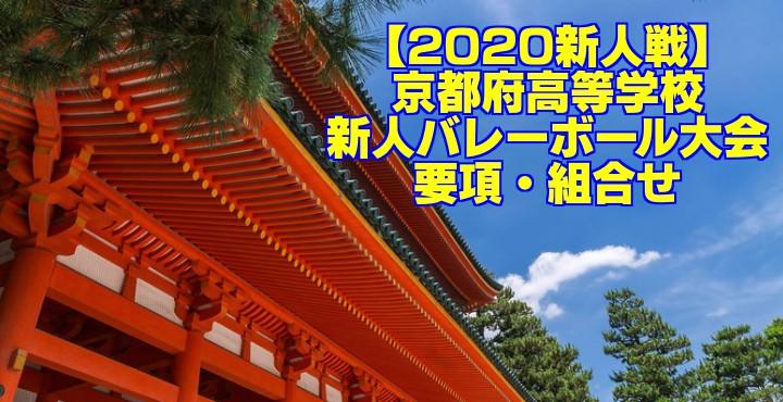 【2020新人戦】京都府高等学校新人バレーボール大会 要項・組合せ