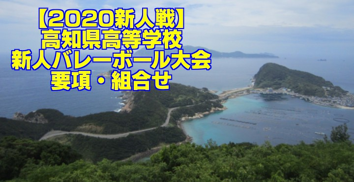 【2020新人戦】高知県高等学校新人バレーボール大会 要項・組合せ