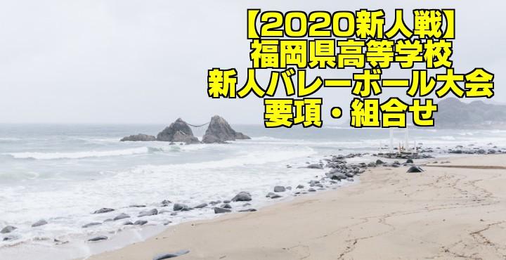 【2020新人戦】福岡県高等学校新人バレーボール大会 要項・組合せ