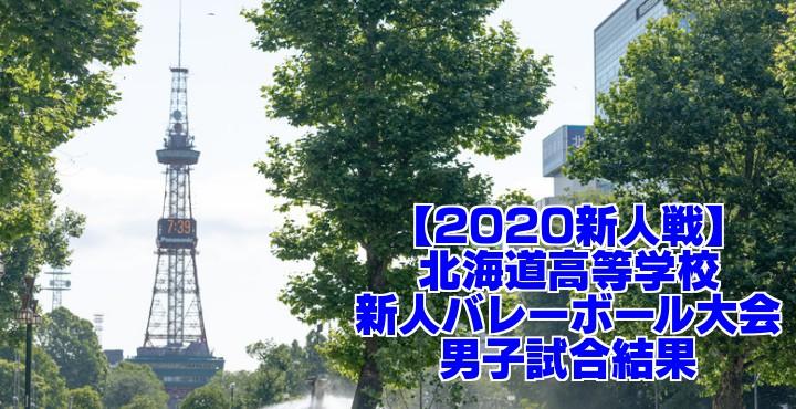 【2020新人戦】北海道高等学校新人バレーボール大会 男子試合結果