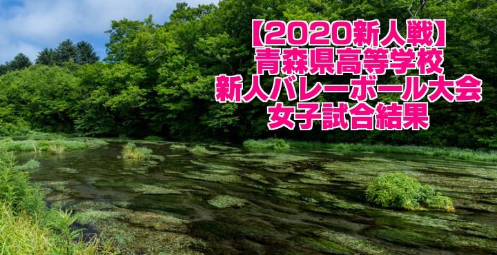 【2020新人戦】青森県高等学校新人バレーボール大会 女子試合結果