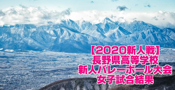 【2020新人戦】長野県高等学校新人バレーボール大会 女子試合結果