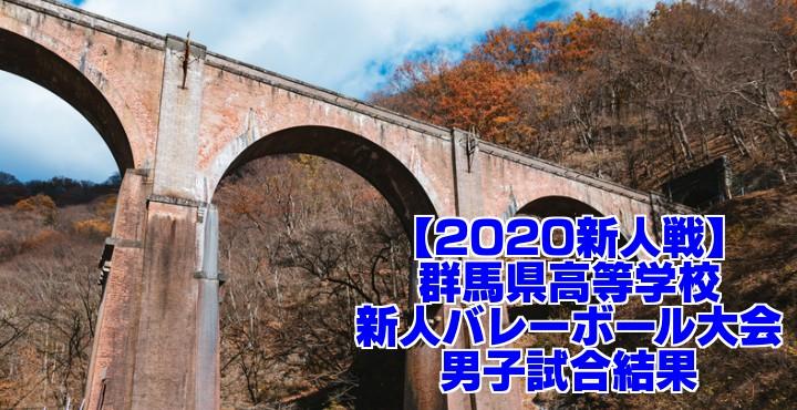 【2020新人戦】群馬県高等学校新人バレーボール大会 男子試合結果