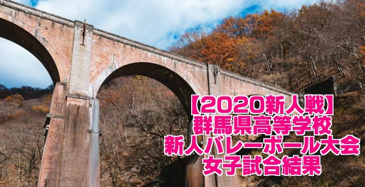 【2020新人戦】群馬県高等学校新人バレーボール大会 女子試合結果