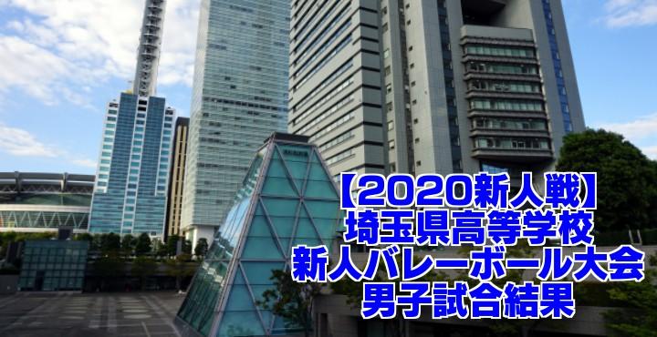 【2020新人戦】埼玉県高等学校新人バレーボール大会 男子試合結果