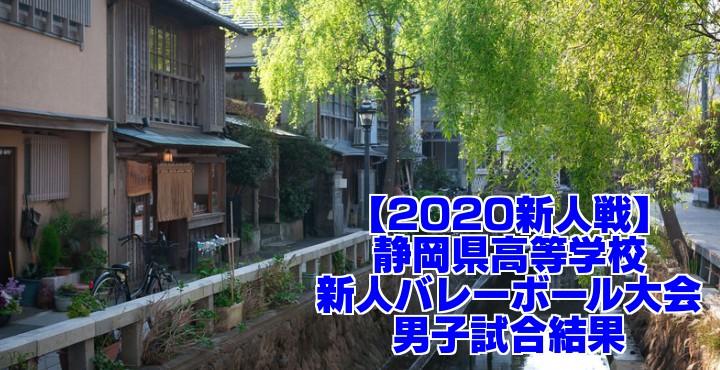 【2020新人戦】静岡県高等学校新人バレーボール大会 男子試合結果
