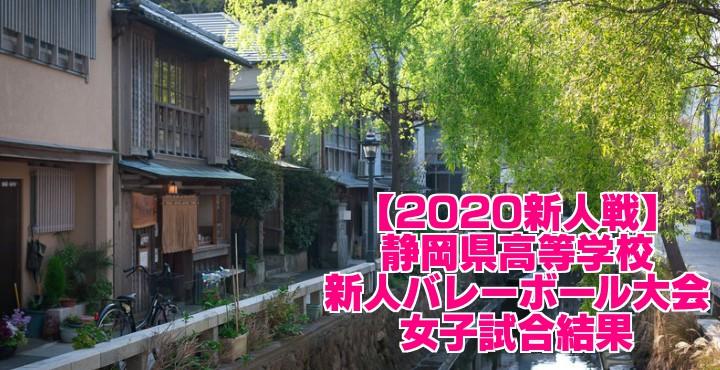 【2020新人戦】静岡県高等学校新人バレーボール大会 女子試合結果