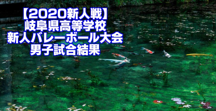 【2020新人戦】岐阜県高等学校新人バレーボール大会 男子試合結果
