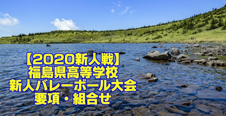 【2020新人戦】福島県高等学校新人バレーボール大会 要項・組合せ