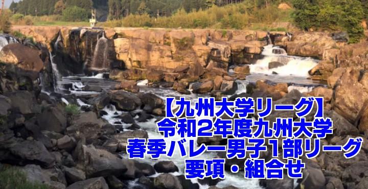 【九州大学リーグ】令和2年度 九州大学春季バレー男子1部リーグ 要項・組合せ