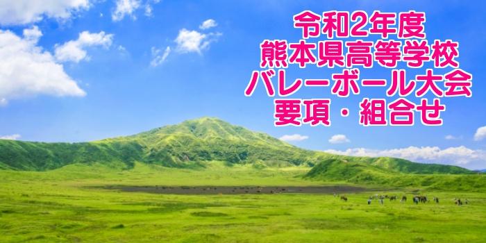 令和2年度 熊本県高等学校バレーボール大会 要項・組合せ