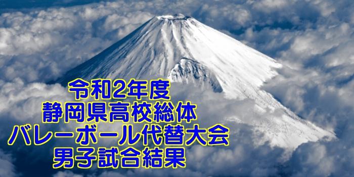 令和2年度 静岡県高校総体バレーボール代替大会 男子試合結果