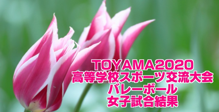 TOYAMA2020高等学校スポーツ交流大会(バレーボール) 女子試合結果