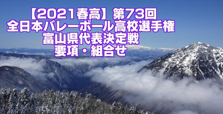 富山 2021春高バレー県予選|第73回全日本バレーボール高校選手権大会 要項・組合せ