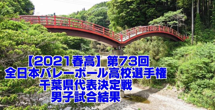 千葉 2021春高バレー県予選|第73回全日本バレーボール高校選手権大会 男子試合結果
