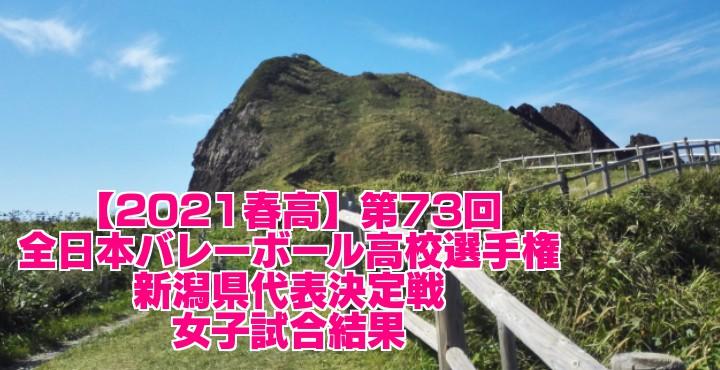 新潟 2021春高バレー県予選|第73回全日本バレーボール高校選手権大会 女子試合結果