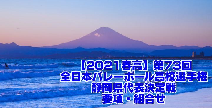 静岡 2021春高バレー県予選|第73回全日本バレーボール高校選手権大会 要項・組合せ