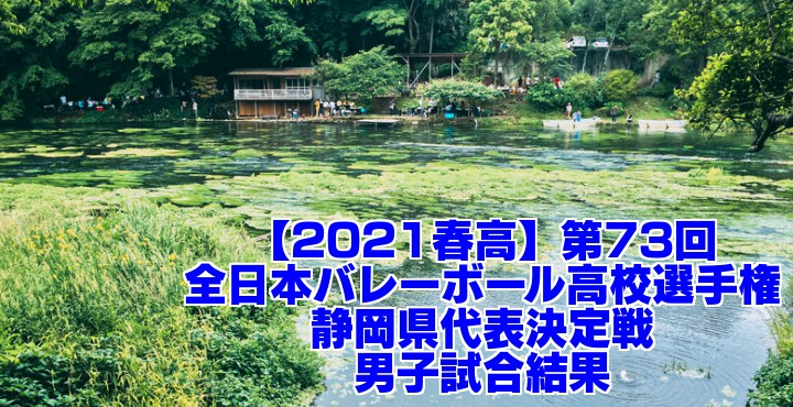 静岡 2021春高バレー県予選|第73回全日本バレーボール高校選手権大会 男子試合結果