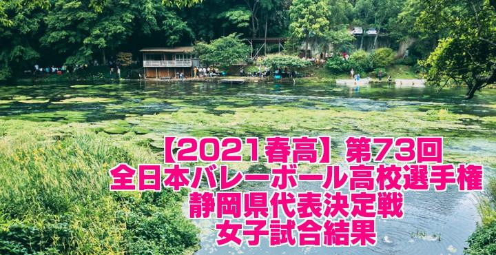 静岡 2021春高バレー県予選|第73回全日本バレーボール高校選手権大会 女子試合結果