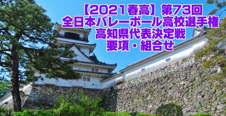 高知 2021春高バレー県予選|第73回全日本バレーボール高校選手権大会 要項・組合せ