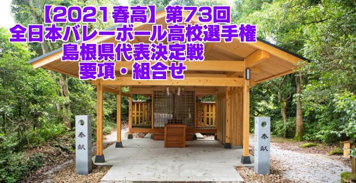 島根 2021春高バレー県予選|第73回全日本バレーボール高校選手権大会 要項・組合せ