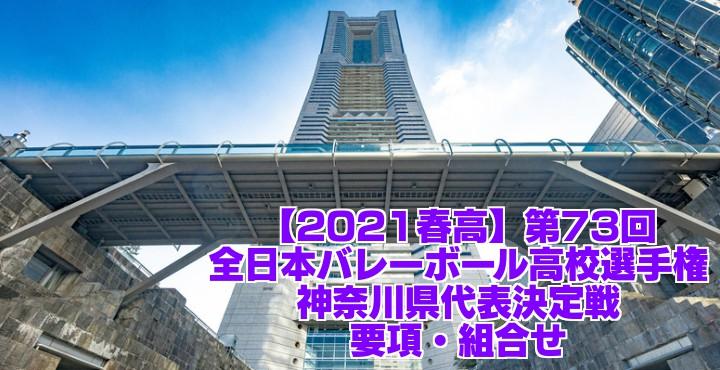 神奈川 2021春高バレー県予選|第73回全日本バレーボール高校選手権大会 要項・組合せ