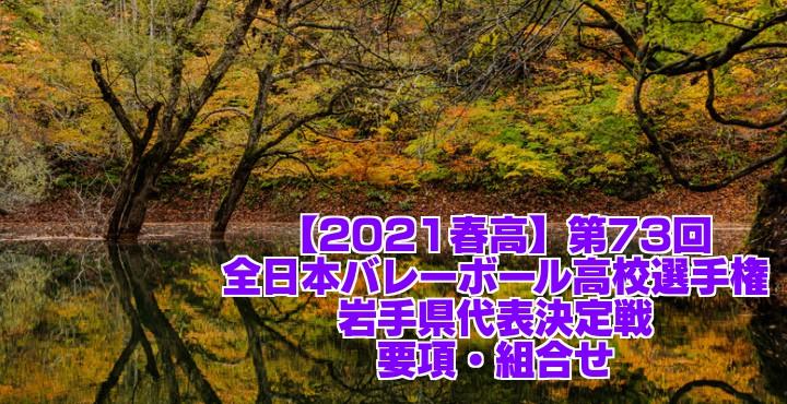 岩手 2021春高バレー県予選 第73回全日本バレーボール高校選手権大会 要項・組合せ
