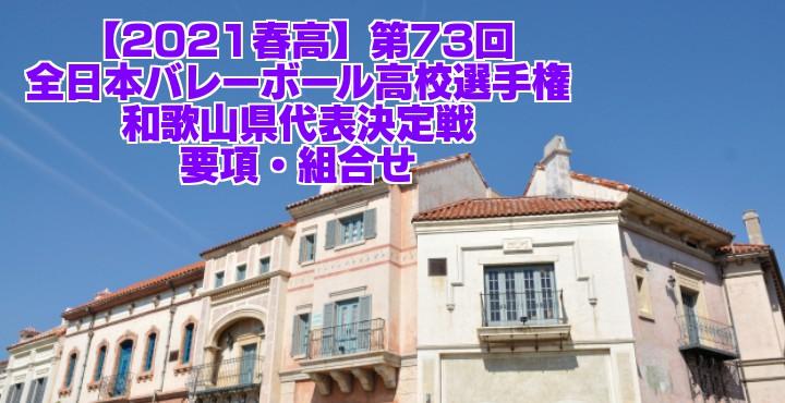 和歌山 2021春高バレー県予選|第73回全日本バレーボール高校選手権大会 要項・組合せ
