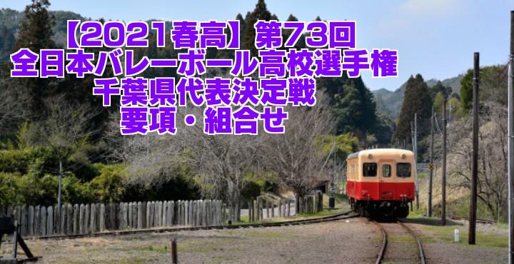 千葉 2021春高バレー県予選|第73回全日本バレーボール高校選手権大会 要項・組合せ