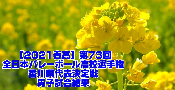 香川 2021春高バレー県予選|第73回全日本バレーボール高校選手権大会 男子試合結果