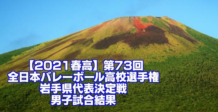 岩手 2021春高バレー県予選|第73回全日本バレーボール高校選手権大会 男子試合結果