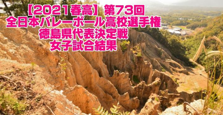 徳島 2021春高バレー県予選|第73回全日本バレーボール高校選手権大会 女子試合結果